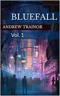Bluefall: Vol. 1 - a stunning sci-fi graphic novel book promotion Andrew Trainor
