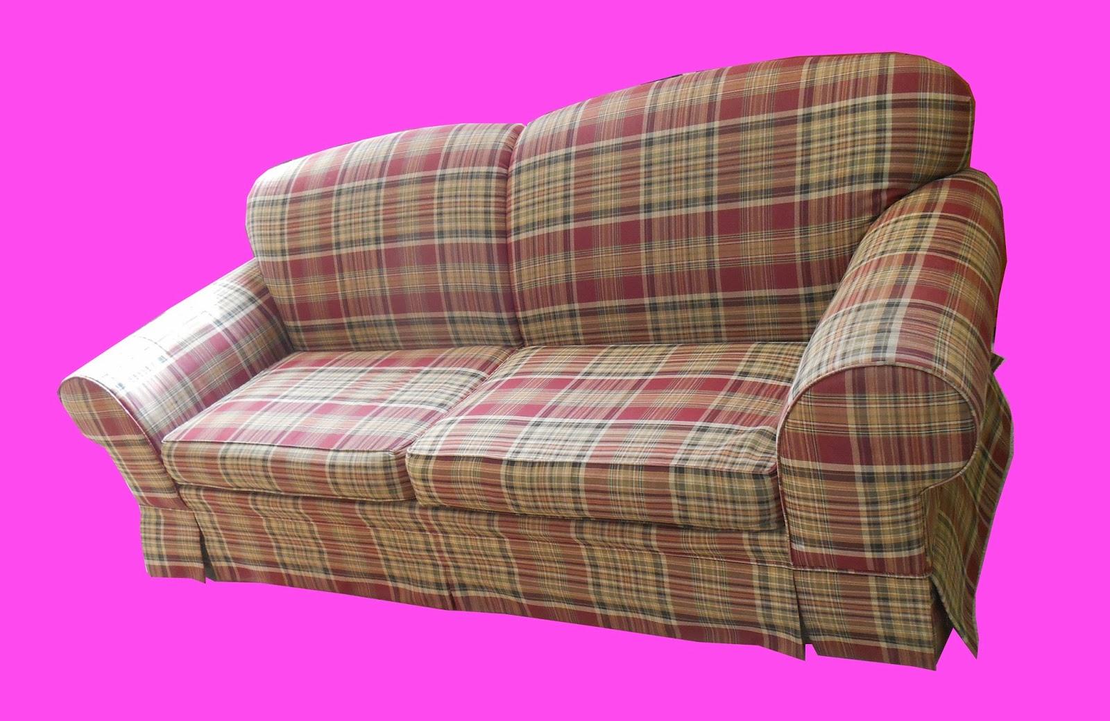Uhuru Furniture & Collectibles: Plaid Sofa SOLD