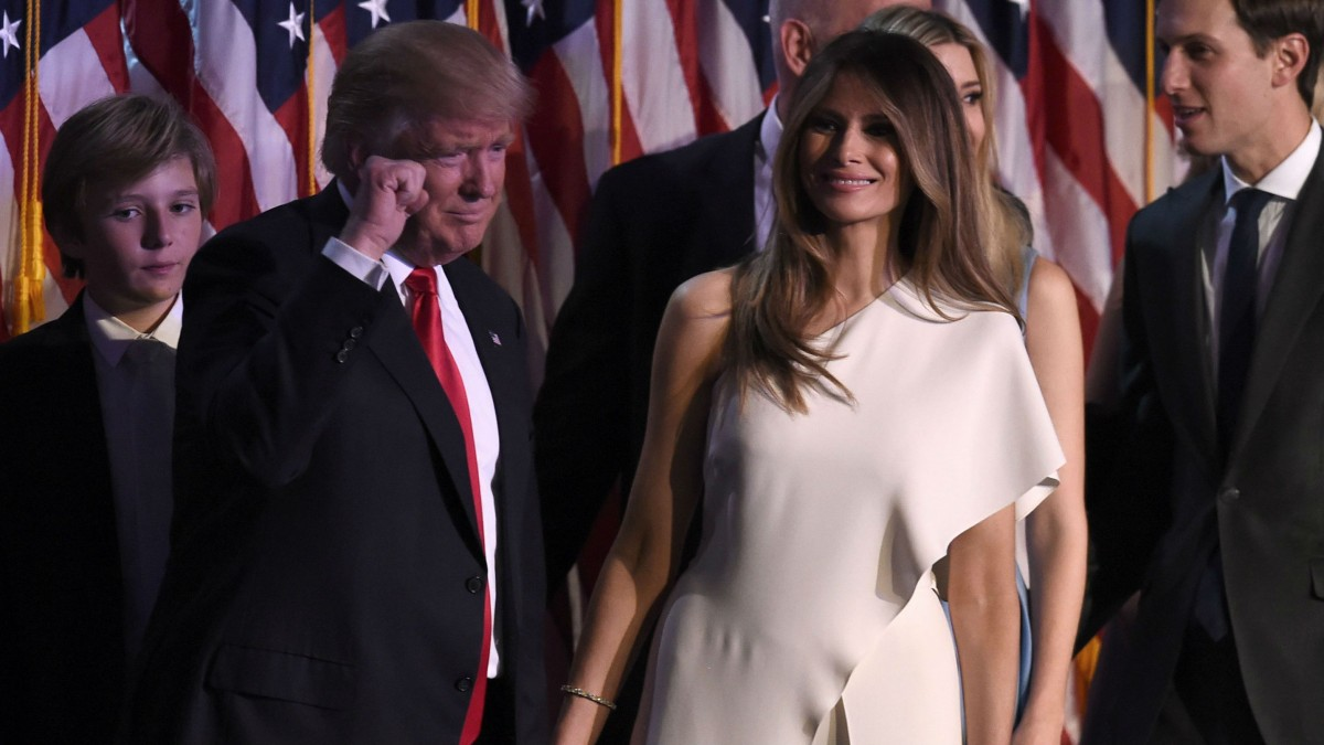 Donald Trump and his wife, Melania