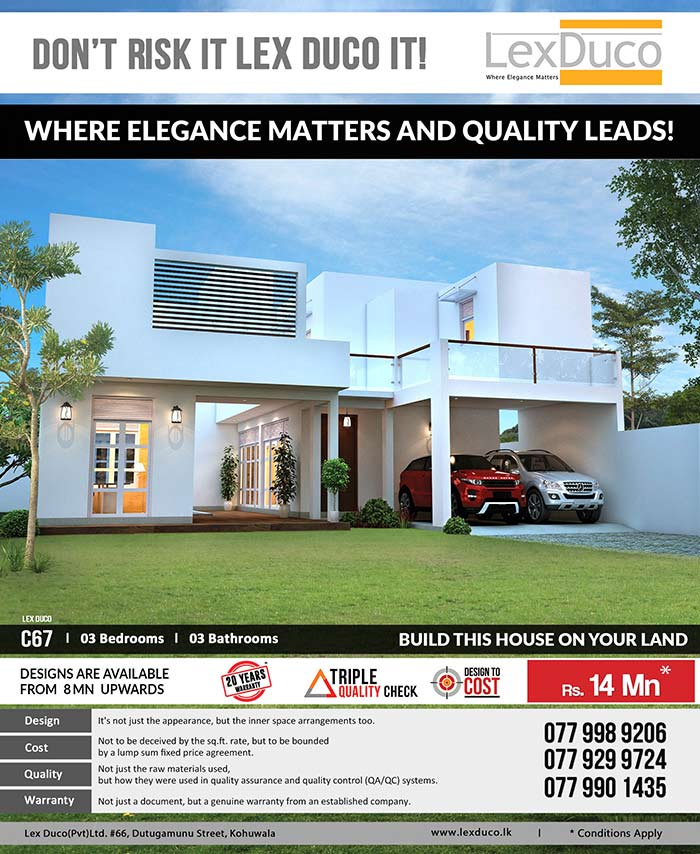 3 bedroom Lex Duco C 67 is only 14 Mn on your land