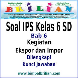 Download  Soal IPS Kelas 6 SD BAB 6 Kegiatan Ekspor dan Impor Dan Kunci Jawaban
