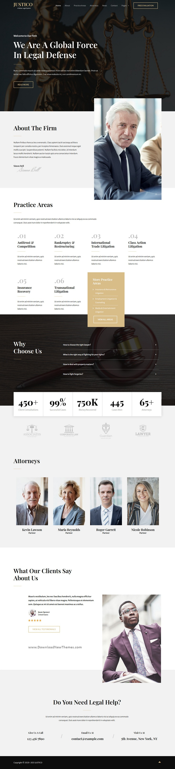 Law Firm Elementor Template Kit