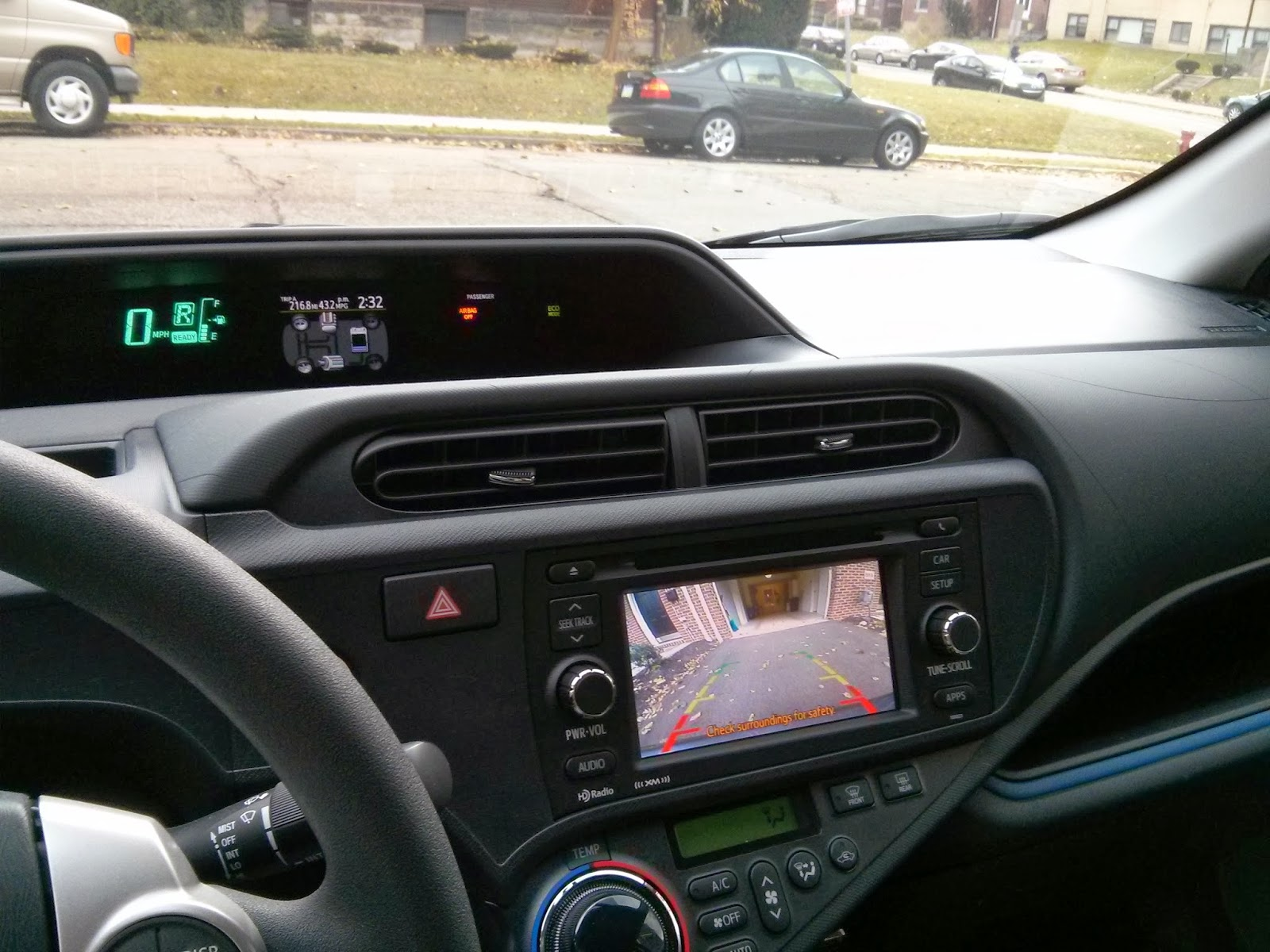 it probably goes without saying, but please do not work on anything you do  not  ryanfx's blog: 2013 prius c factory rear view backup camera  installation