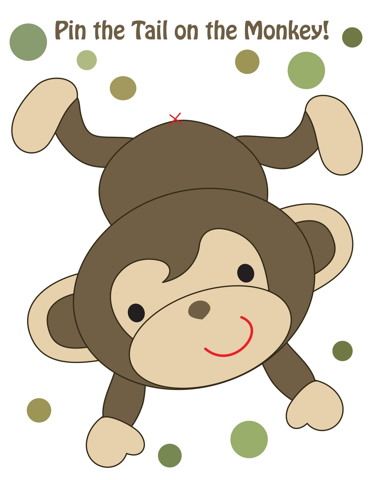 1280px for Monkey birthday cake template