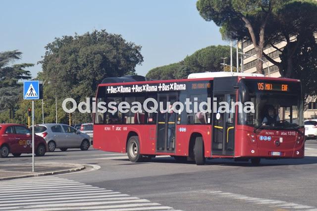Il trasporto pubblico Capitolino a Roma di Sera