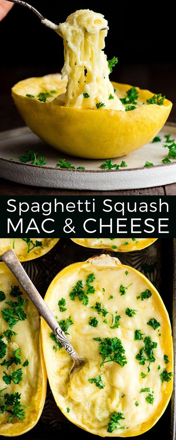 Healthy Spaghetti Squash Mac And Cheese