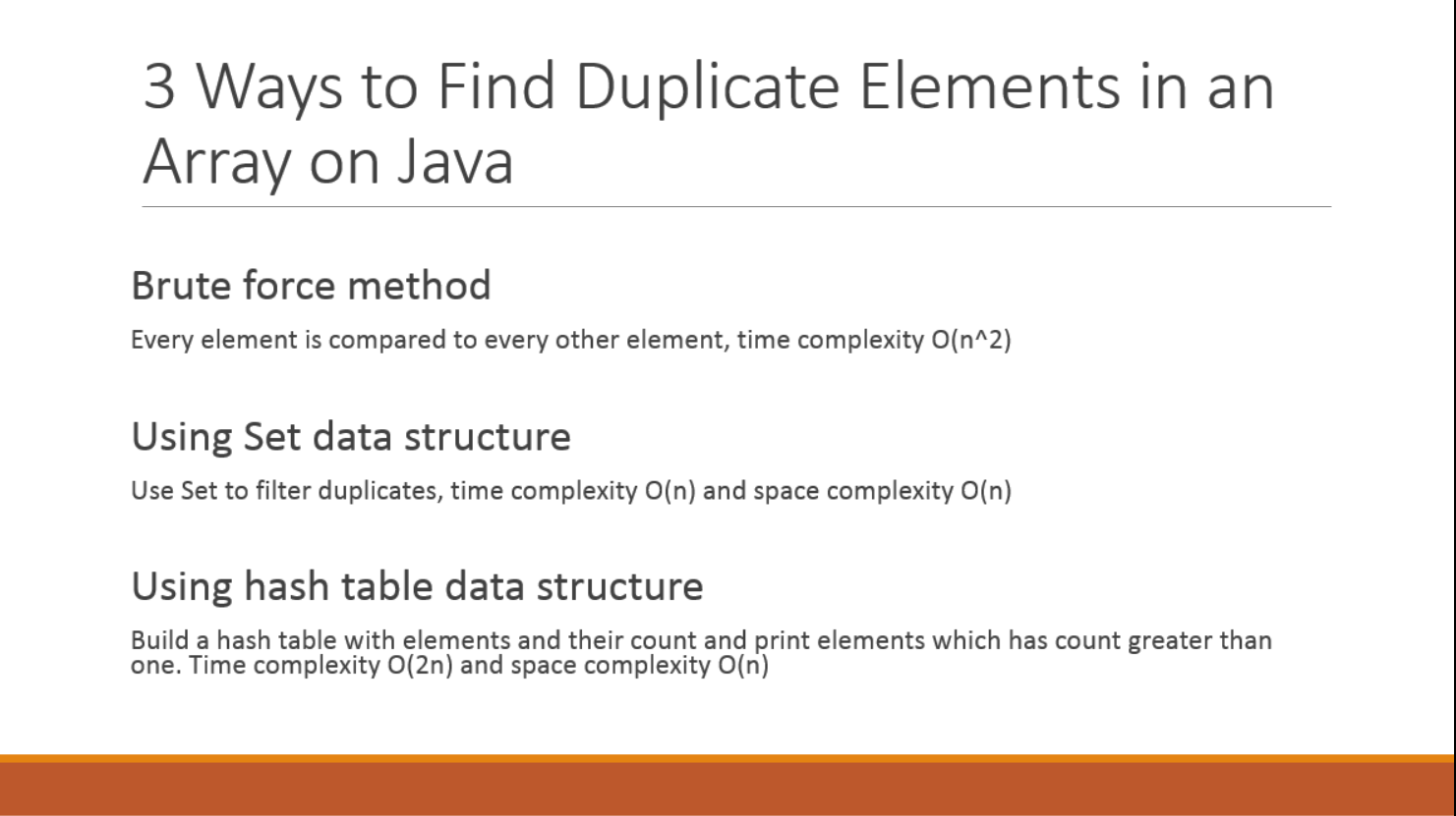 3 Ways to Find Duplicate Elements in an Array - Java