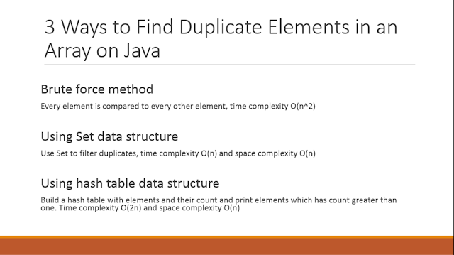 How to find duplicate elements in array in Java
