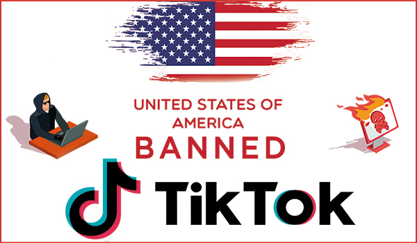 Tiktok Banned In USA - High Security Risk and Ransomware Attack