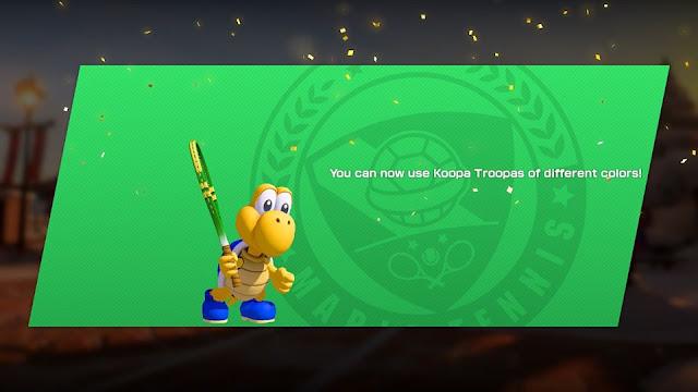 Mario Tennis Aces Blue Koopa Troopa