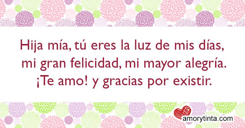 Amor Y Tinta Frases De Amor Para Mi Hija
