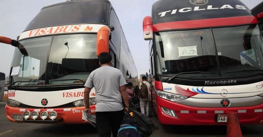 Reactivación del transporte interprovincial de pasajeros sería para la Fase 3, informó el Ministro de Transportes y Comunicaciones, Carlos Lozada