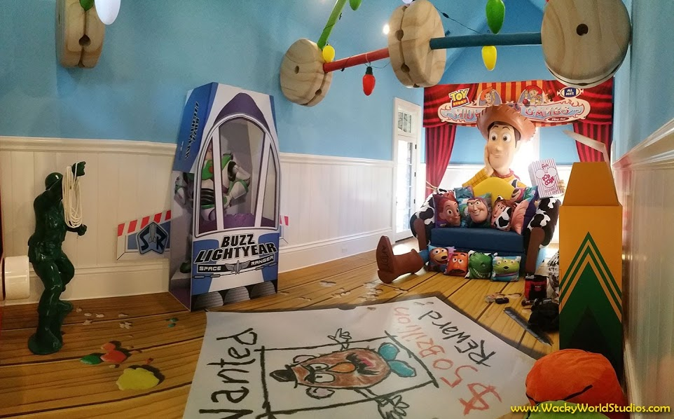 Wonderfully Designed Toy Story Themed Room Within Disney