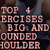 Top 4 exercises for big and rounded shoulder | Anatomy of shoulder