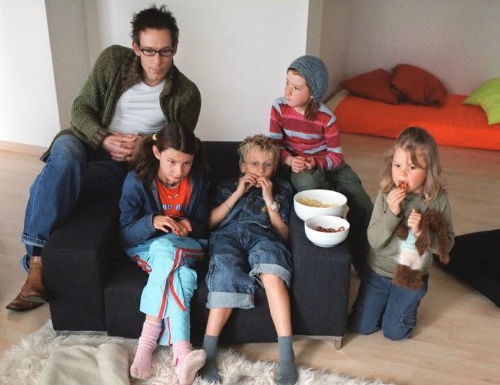 Père avec ses enfants