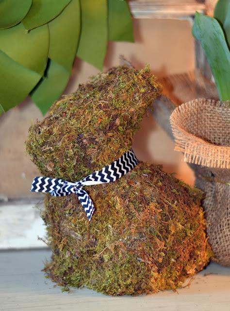 moss covered bunny rabbit