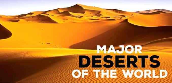 Major Deserts of the World