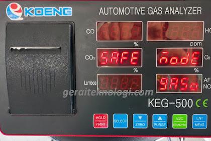 Cara Menggunakan dan Membaca Gas Analyzer
