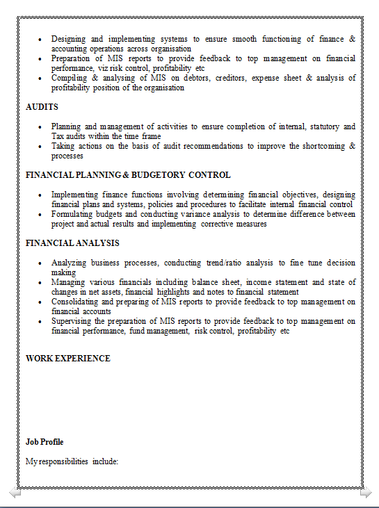 Dynamic Resume: Excellent resume for Finance & Accounts