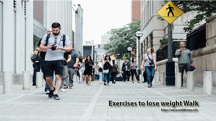Exercises to lose weight Walk