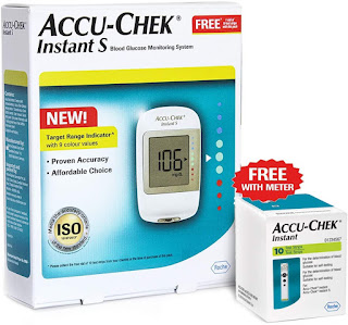 Accu-Chek Instant S Glucometer for home use
