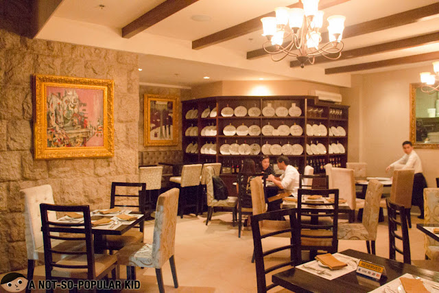 Posh interior of C'Italian Dining in Makati