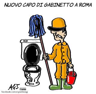 frongia, raggi, beppe grillo, roma, m5s, vignetta, satira