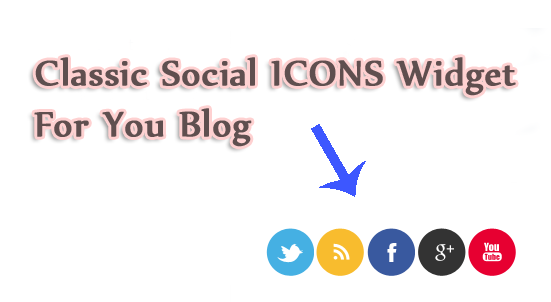 classic social networking icons for your blog