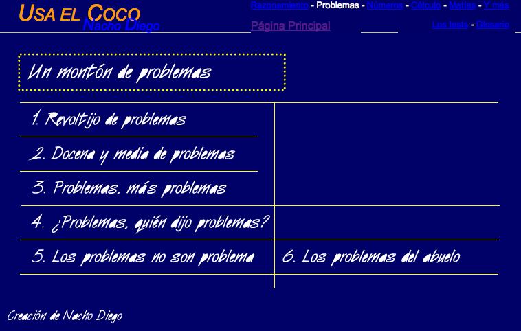 http://sauce.pntic.mec.es/jdiego/problem/problemas.htm