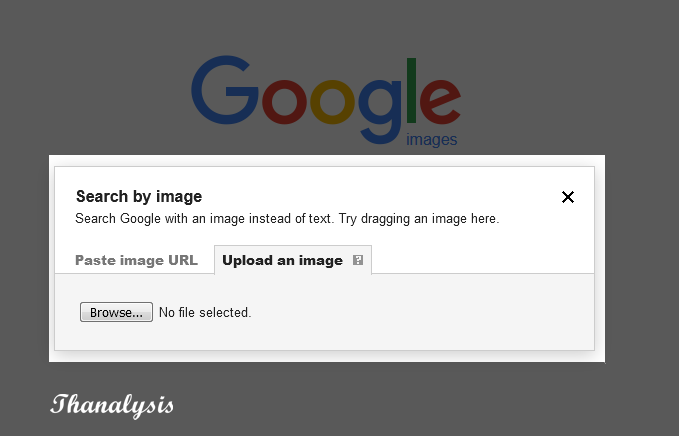Upload an image to Google.
