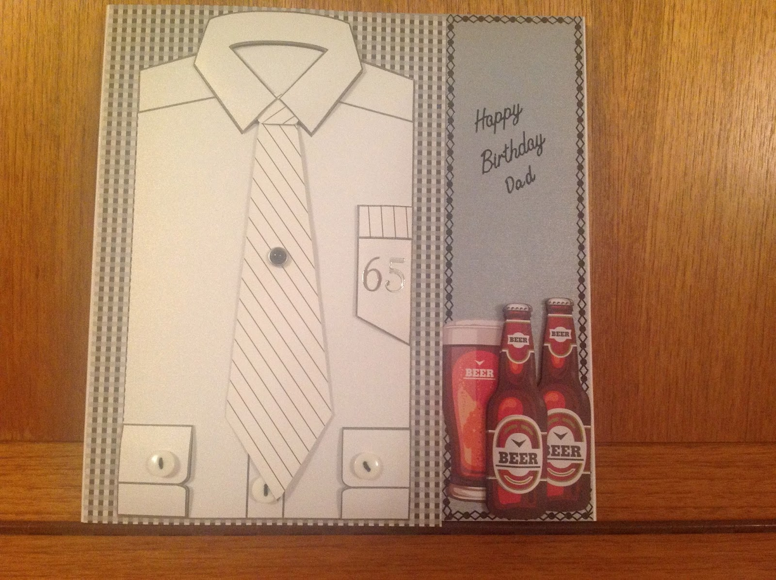 The Beer Glass And Bottles Of Were From A Magazine Making Cards For Men