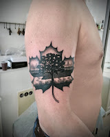 кленовый лист тату