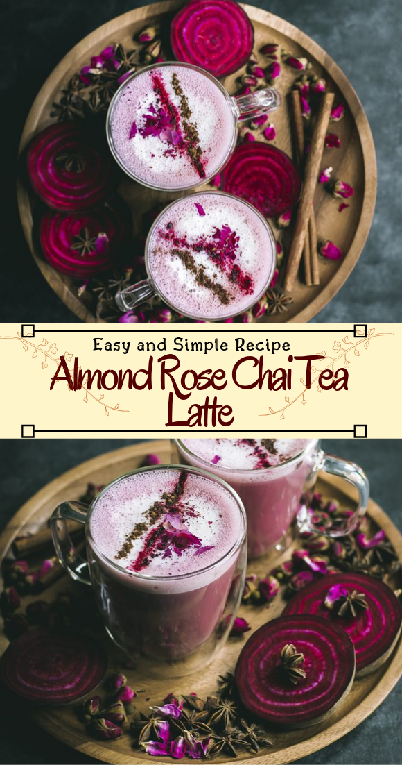 Almond Rose Chai Tea Latte  #healthydrink #easyrecipe #cocktail #smoothie