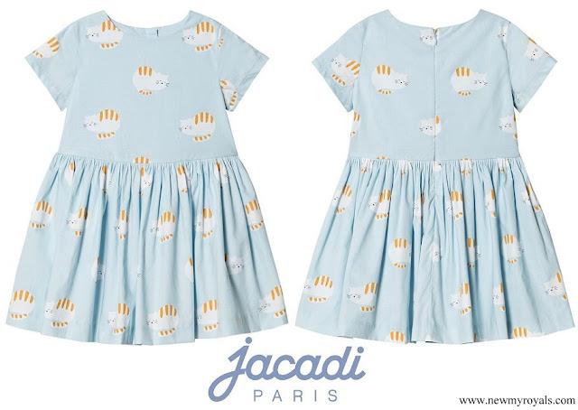 Princess Gabriella wore a new cats print dress from Jacadi