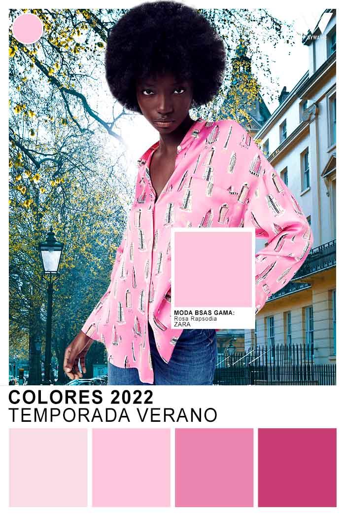 colores de moda ropa de mujer 2022 moda colores rosas