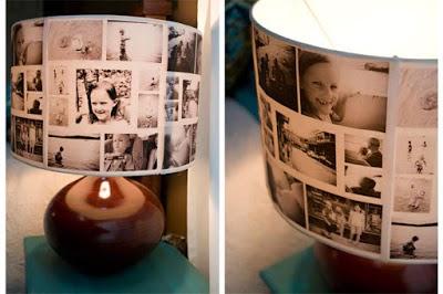Como fazer abajur com fotos antigas