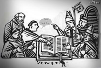 """Imagem da PALAVRA de DEUS aberta, com a seguinte Mensagem: """"Sola Scriptura"""""""