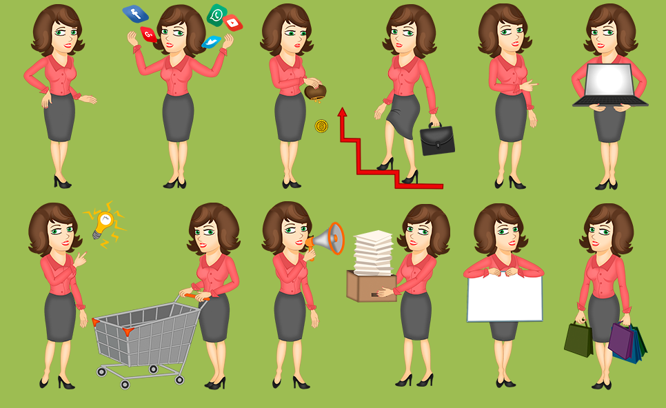 businesswoman-animation-kit