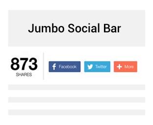 How to Add Jumbo Social Share Bar with Counters in Blogger