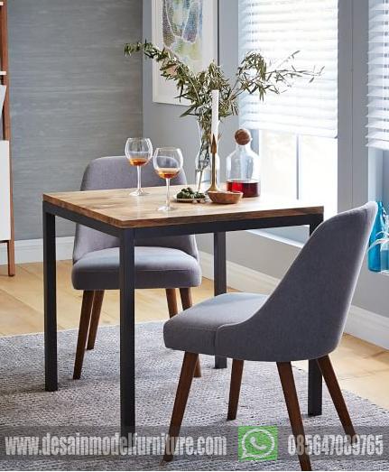 Set kursi makan minimalis retro untuk cafe