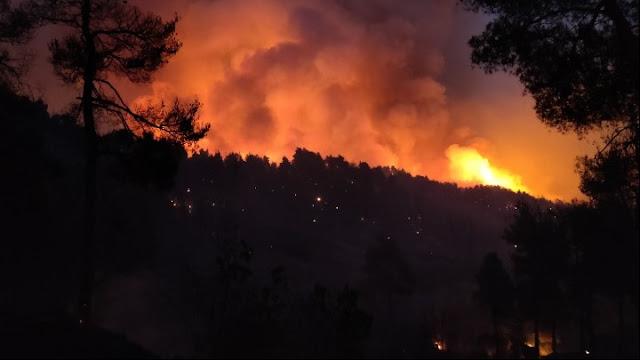 Η σημερινή εικόνα των πυρκαγιών σε Αττική, Βόρεια Εύβοια, Λακωνία, Ηλεία, Αρκαδία και Κασσάνδρα Χαλκιδικής