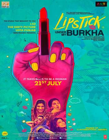 Watch Online Lipstick Under My Burkha 2017 Full Movie Download HD Small Size 720P 700MB HEVC DVDRip Via Resumable One Click Single Direct Links High Speed At WorldFree4u.Com