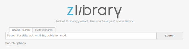 Screenshot: Part of Z-Library project. The world's largest ebook library