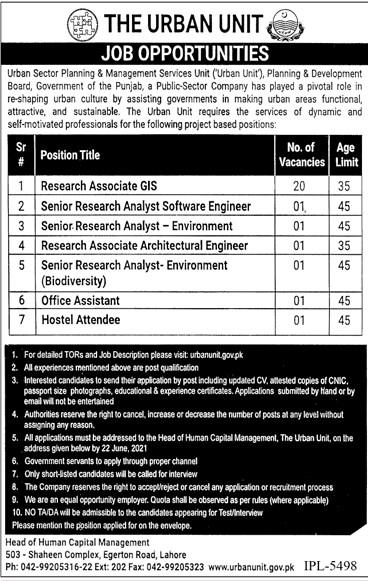 Punjab Planning & Development Board Jobs 2021 in Pakistan - PND Punjab Jobs 2021 Advertisement