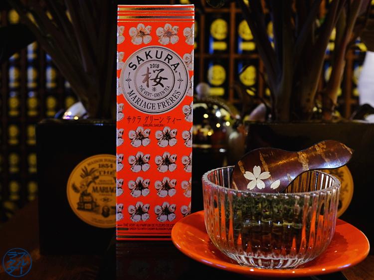 Le Chameau Bleu - Dégustation de thé Sakura chez Mariage Frères Paris