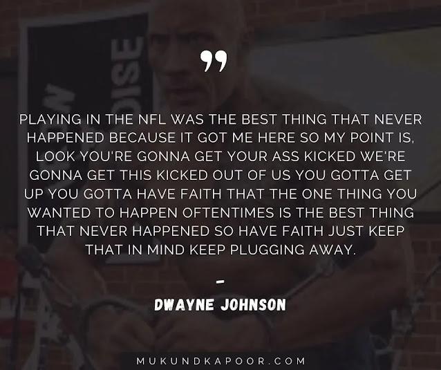 dwayne johnson quotes workout