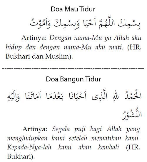 Doa sebelum Dan Bangun Tidur