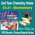 Biochemistry 2nd Year Chemsitry Notes