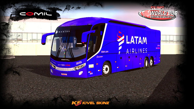 COMIL 1200 6X2 - VIAÇÃO SUSSANTUR - LATAM AIRLINES