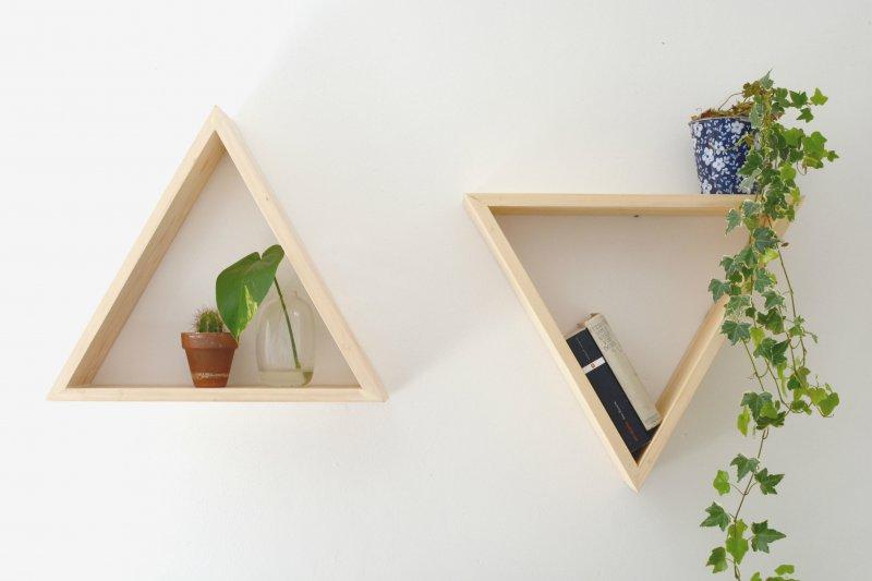 DIY   triangle shelves   burkatron   DIY + lifestyle blog